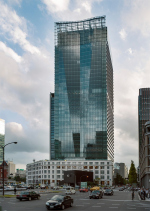 Башня с оригами-фасадом