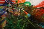 Временный павильон «Гаража» закрыли фантастическим пейзажем