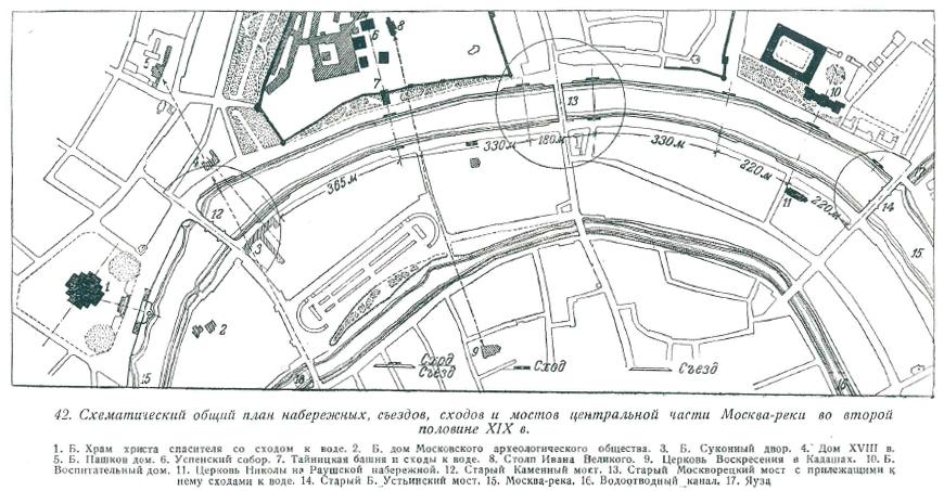 Схема центральной части Москвы