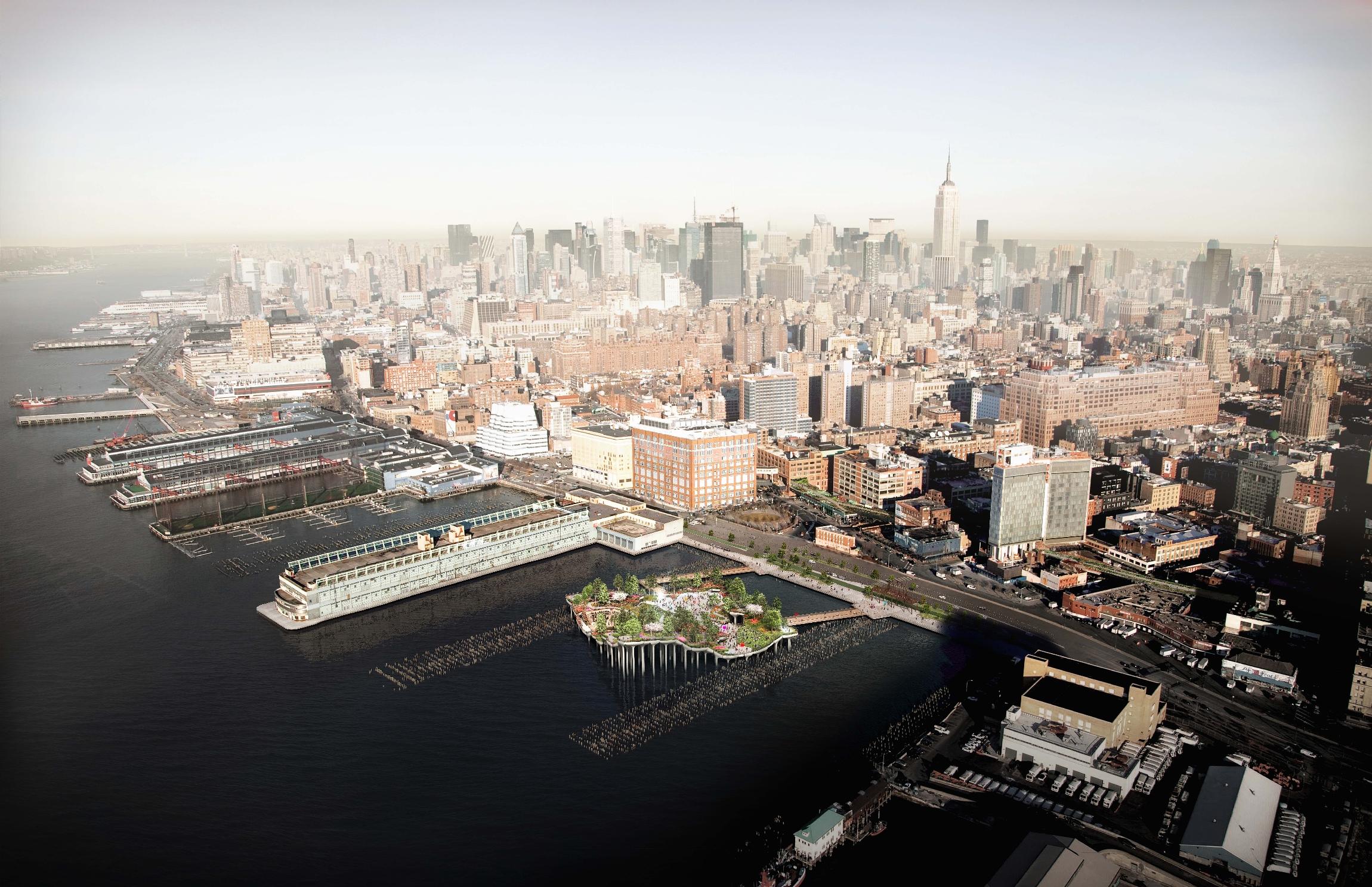 Парк-остров Pier55 в Нью-Йорке по проекту Heatherwick Studio