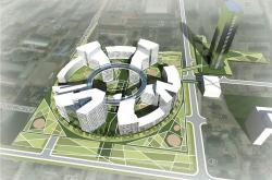 Конкурсный проект многофункционального жилого комплекса в Новосибирске