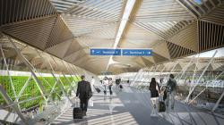 Двор терминала 1 аэропорта Франкфурта-на-Майне