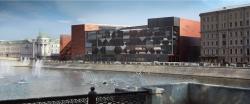 Конкурсная концепция фасадов нового здания Третьяковской галереи. Вариант 1