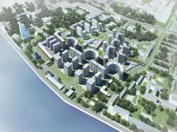 Конкурсный проект застройки квартала на Октябрьской набережной (совместно с ООО «Архитектурной мастерской Мамошина»)