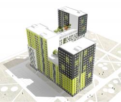 Конкурсный эскиз жилых домов для многократного применения (для ГК «Мортон»)