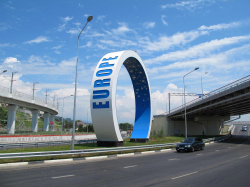 Архитектурно-пространственная композиция «Кольца» на развязке «Адлерское кольцо» в г. Сочи