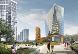 Многофункциональный комплекс и торговый центр на ул. Академика Ильюшина