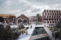 Конкурсная концепция застройки территории бывшего Царскосельского вагоноремонтного завода «София»