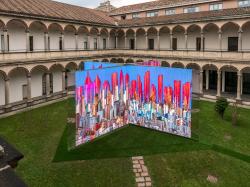 «ДНК города»: инсталляция во дворе Миланского университета