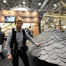 На выставке «Деревянный Дом» компания АРХИТАЙЛ презентовала уникальные материалы премиум-класса для кровли, фасадов, интерьеров и ландшафтного дизайна