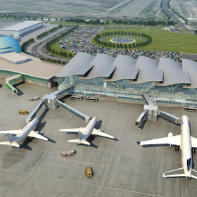 Необычная кровля нового терминала аэропорта Астаны утеплена ROCKWOOL РУФ БАТТС