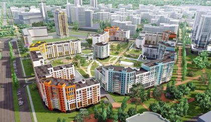Жилой квартал в Екатеринбурге