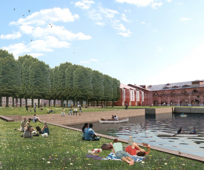 Contest project of the New Holland island regeneration