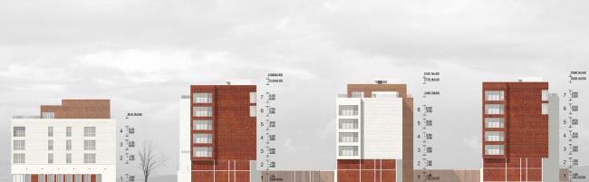 Жилой комплекс на улице Льва Толстого. Фасады © Сергей Киселев и Партнеры