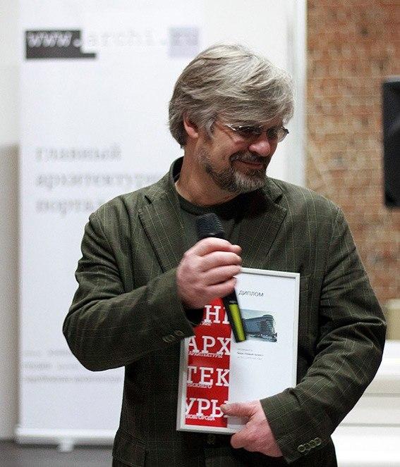 Диплом за Многопрофильный торгово-выставочный комплекс в Советском районе («Поворотный момент») получает Вадим Вагин, ООО АПМ «Новый Проект»