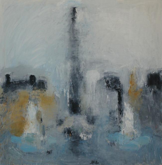 Евгения Буравлева. Trafalgar Square. 2012, х., м., 150х150