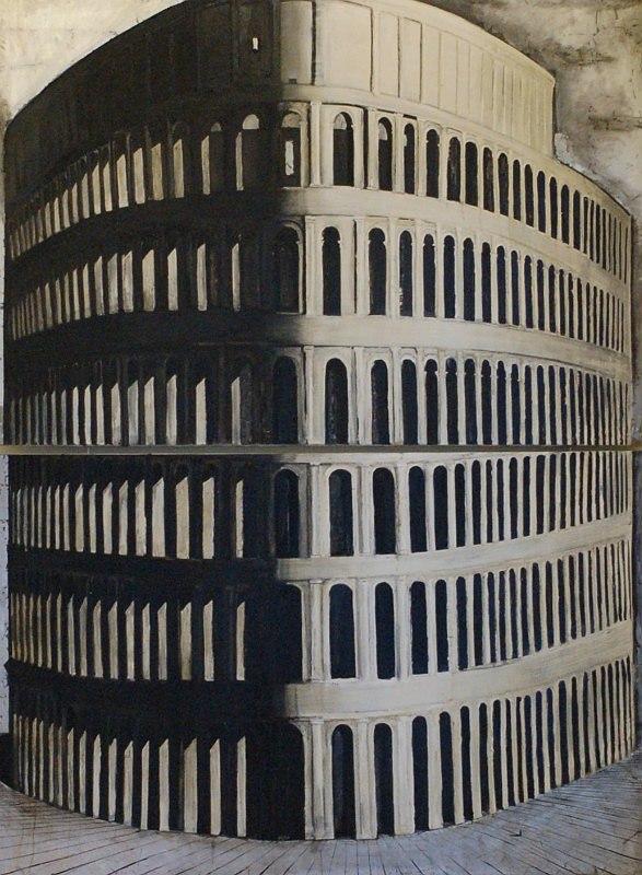 Мария Суворова. Идолы. Башня. 2009, х., м., 340х250