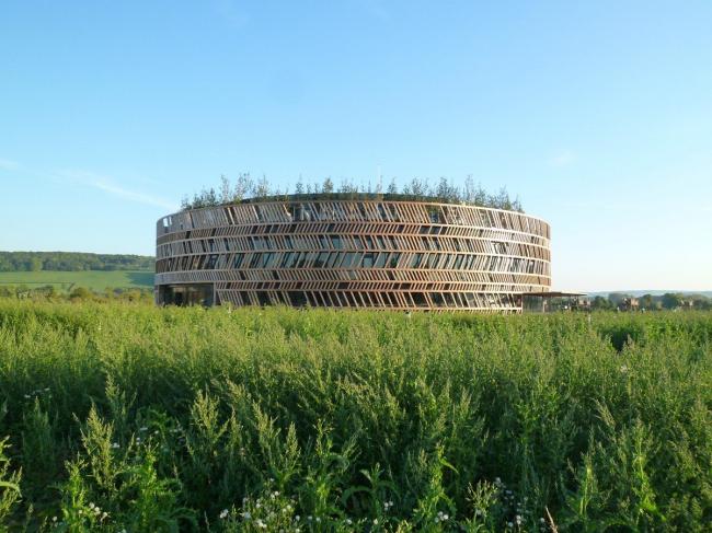 Алезия - музейный и археологический парк. Информационный центр. Фото © Bernard Tschumi Architects