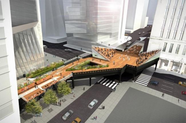 Парк Хай-Лайн. 3-я очередь строительства. Проект © James Corner Field Operations and Diller Scofidio + Renfro / courtesy The City of New York and Friends of the High Line