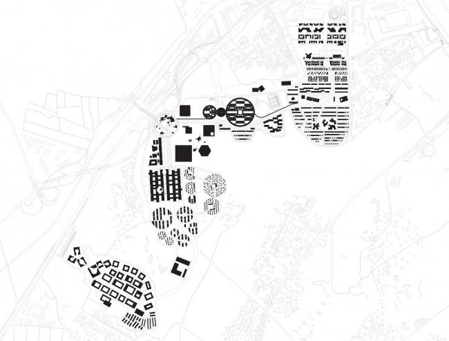 Схема генерального плана инновационного центра «Сколково».