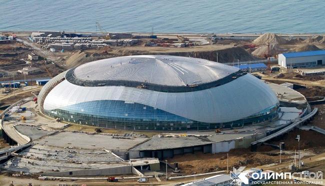 Большой ледовый дворец в Сочи. Фотография с сайта «ГК Олимпстрой»