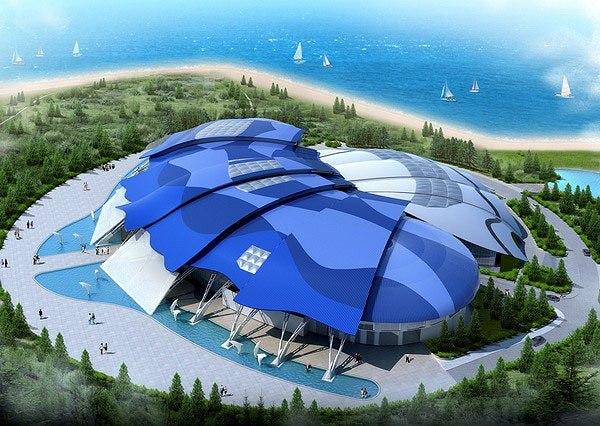 Научно-исследовательский комплекс «Приморский океанариум» (г.Владивосток, остров Русский), проект, визуализация