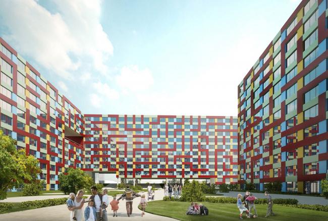 Конкурсный проект жилого комплекса на 1-й улице Бухвостова в Москве © ТПО «Резерв»