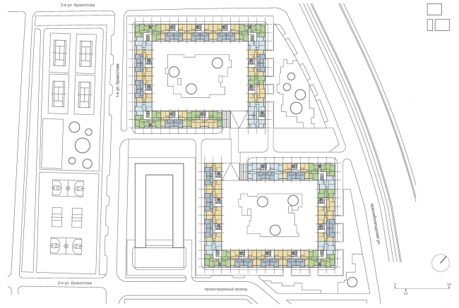 Схема типового этажа © ТПО «Резерв»