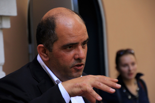 Комиссар павильона Григорий Ревзин. Фотография Ю. Тарабариной