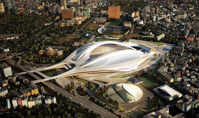 Национальный стадион Японии © Zaha Hadid Architects. Изображение с сайта jpnsport.com