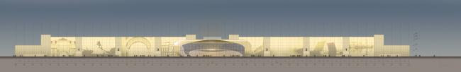 Конгрессно-выставочный комплекс «Экспофорум» на Петербургском шоссе. Фасад. Проект, 2009 © SPEECH, Евгений Герасимов и партнеры
