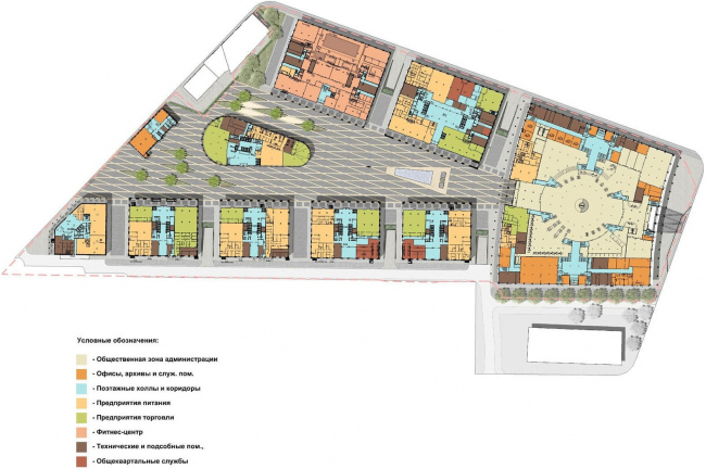 Административный и общественно-деловой комплекс «Невская ратуша». План © Евгений Герасимов и партнеры