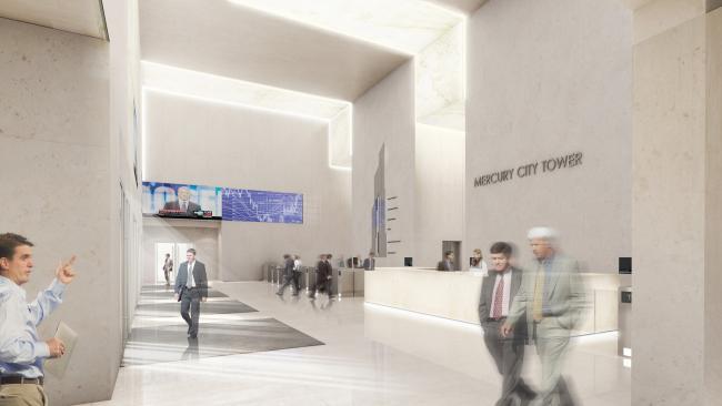 Меркурий-Сити Тауэр. Дизайн интерьера общественных пространств. Фото: oa.erickvanegeraat.com