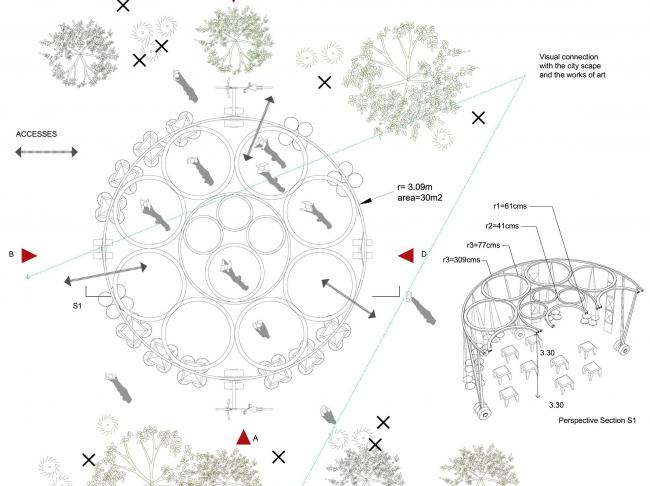 Проект Garden City Rings. Изображение предоставлено организаторами конкурса.