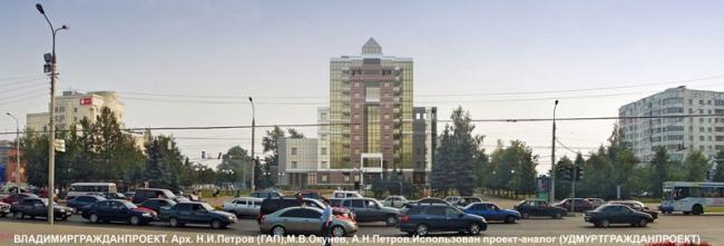 Вид со стороны площади Победы - проектное изображение
