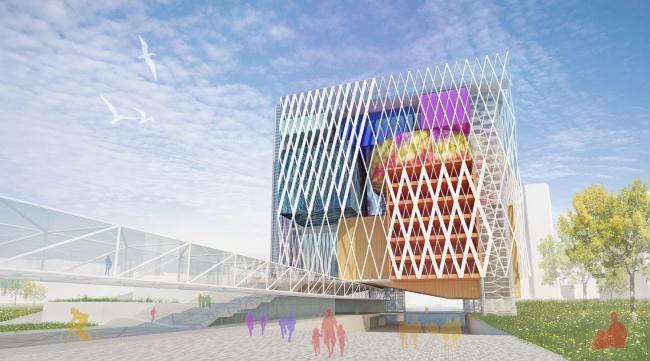 Концепция проекта реконструкции дворца «Жастар» и прилегающего пешеходного бульвара © Архитектурное бюро «Студия 44»