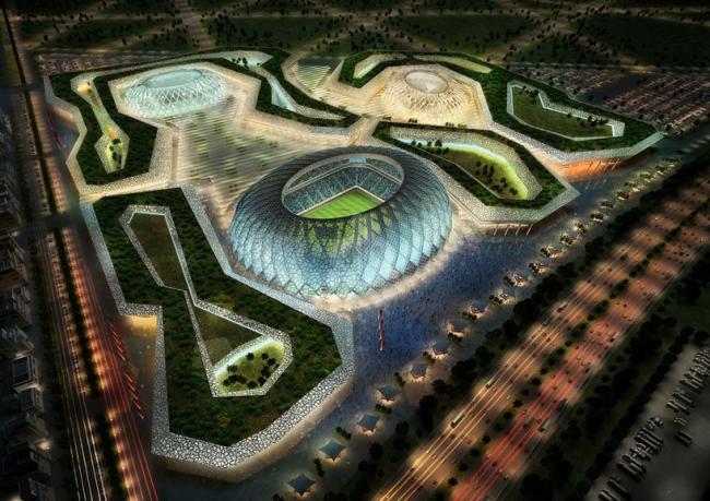 Стадион Чемпионата мира по футболу 2022 в Аль-Вакра. Первоначальный вариант дизайна © Zaha Hadid Architects