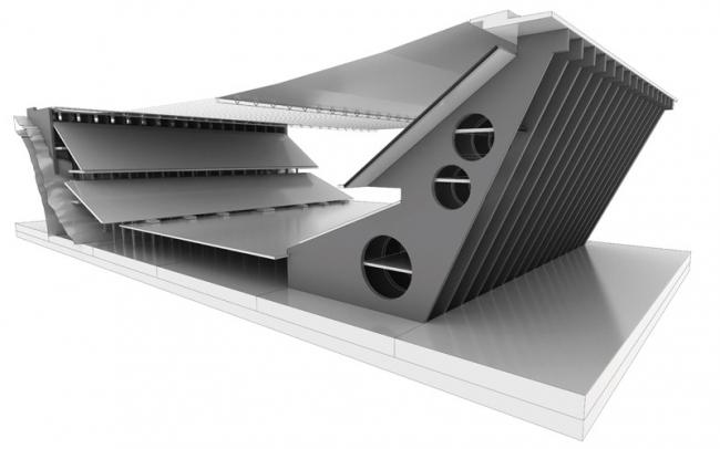 Стадион в Браге. Авторы 3D-модели Cristina Jeanne Marais, Angela Afandi. Изображение с сайта http://www.cristinajeannemarais.com