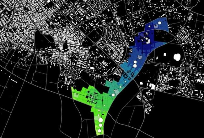 Mobility in chain. OMA. Мастер-план города Сабха, Ливия