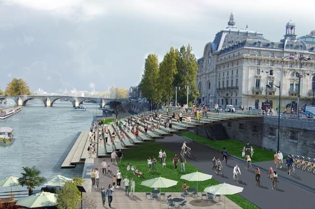 <br /> Новый линейный парк на берегу Сены