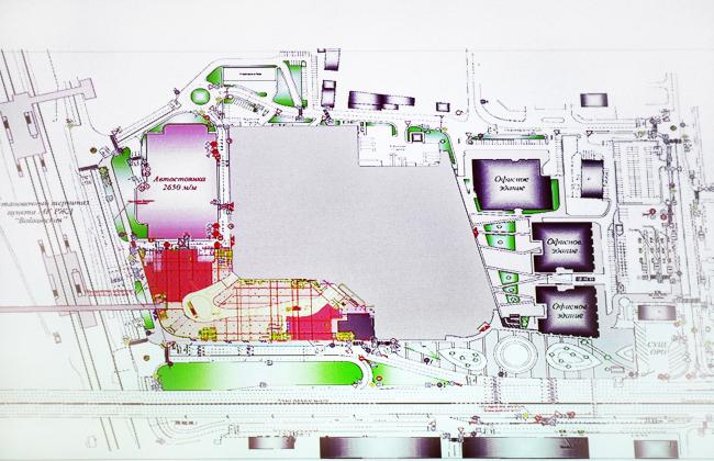 Многофункциональный торговый комплекс «Метрополис», вторая очередь. План 1 этажа. Проект, 2013 © UNK project