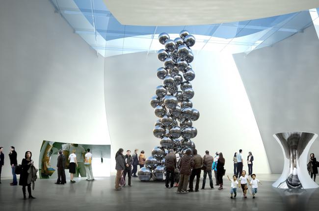 Китайский национальный музей искусств. Конкурсный проект. © Gehry Partners
