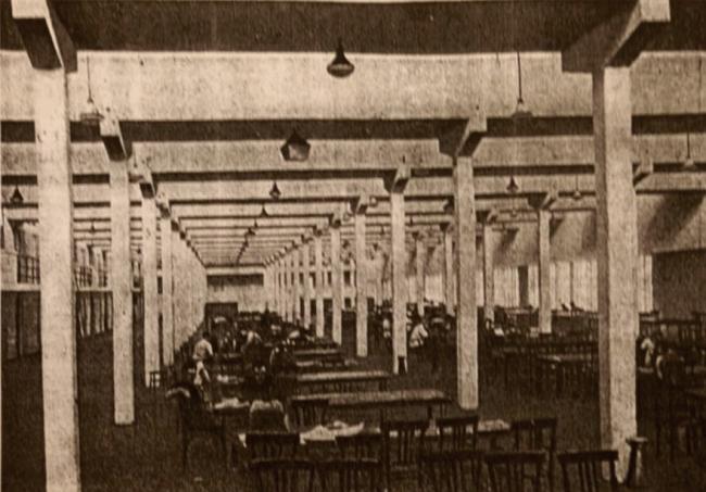 Дом-коммуна, интерьер библиотеки. Архивная фотография, предоставлена Е. Шорбан