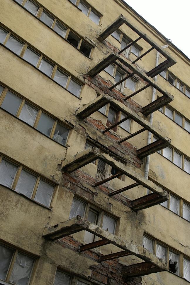 Спальный блок, внешний фасад. Фотография А.Яковлева, 2007