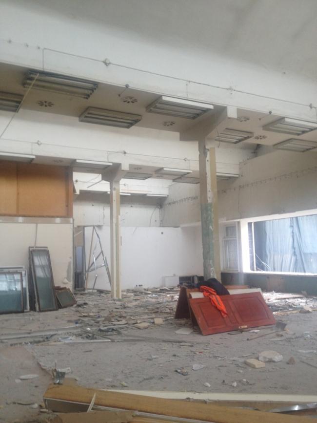 Общественный блок, этаж часть очищенного интерьера 2013 г