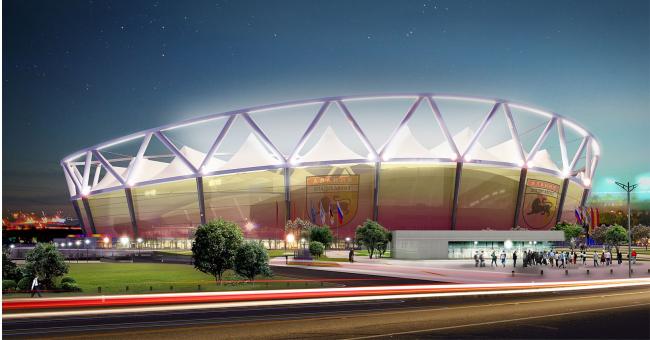 Стадион владикавказской Алании. iki design group. Иллюстрация: www.ikidg.com