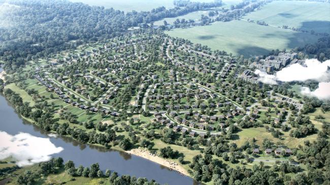 Вид на поселок с юга