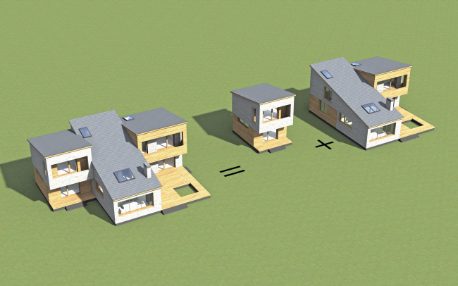Схема концепции «Дом на вырост»