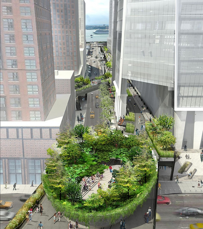 Парк Хай-Лайн. 3-я очередь строительства. Проект © James Corner Field Operations and Diller Scofidio + Renfro / courtesy The City of New York