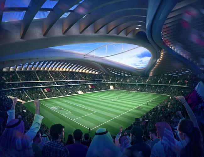Стадион Чемпионата мира по футболу 2022 в Аль-Вакра © Zaha Hadid Architects